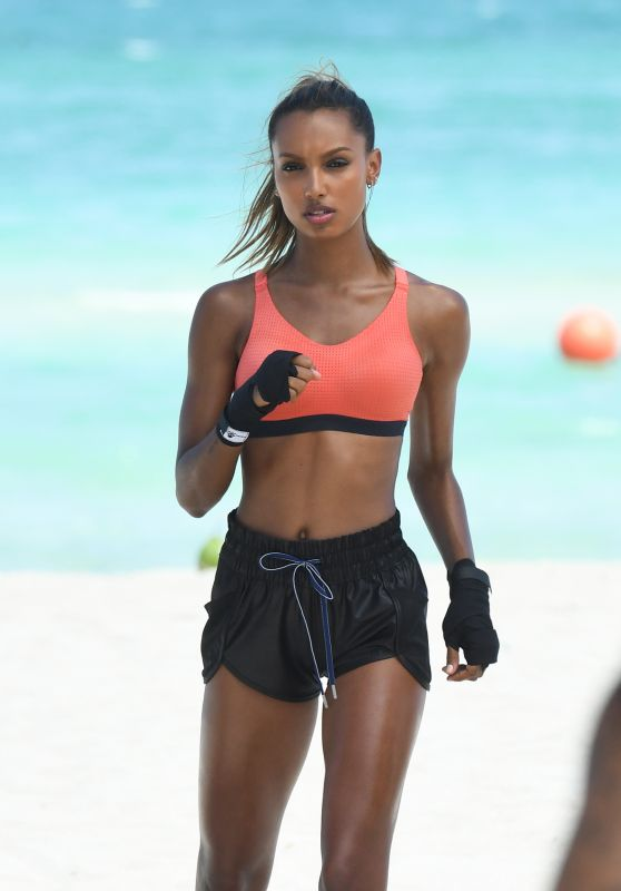 Jasmine Tookes – Victoria Secrets Photoshoot in South Beach 04/25/2017