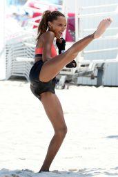 Jasmine Tookes – Victoria Secrets Photoshoot in South Beach 04/25/2017