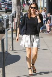 Jennifer Garner in Mini Skirt Out in Brentwood, CA 4/21/2017