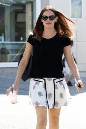 Jennifer Garner in Mini Skirt Out in Brentwood, CA 4/21/2017