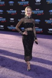 Jennifer Holland on Red Carpet – Guardians of the Galaxy Vol. 2 Premiere in Los Angeles