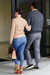 Jennifer Lopez in Ripped Jeans Escorted By A-Rod To A Doctor