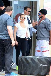 Jennifer Lopez - Leaving her Miami gym With Boyfriend Arod 4/22/2017