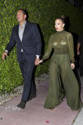 Jennifer Lopez Night Out Style - Miami, April 2017