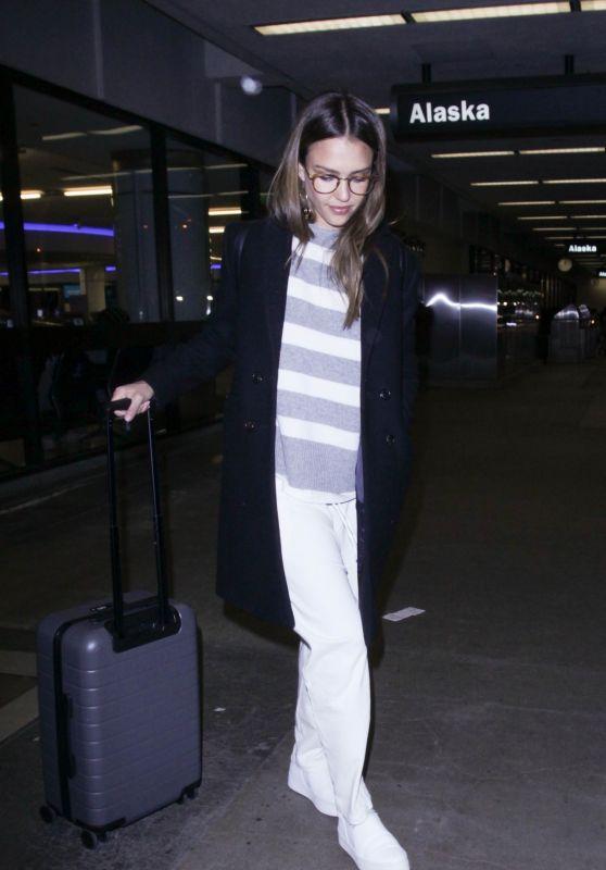 Jessica Alba at LAX AIrport 4/11/2017