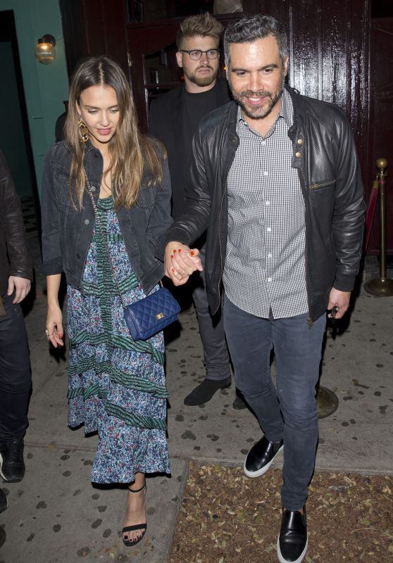 Jessica Alba - Leaving the Peppermint Club in West Hollywood 4/22/2017