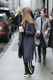 Jessica Alba Street Style - Rainy Day in New York 4/4/2017