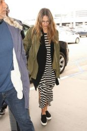 Jessica Alba Travel Outfit - Departs LAX 4/3/2017