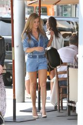 Joanna Krupa Leggy in Shorts - Il Pastaio in Beverly Hills 04/24/2017