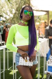 Justine Skye – Rachel ZOEasis at Coachella in Palm Springs, April 2017