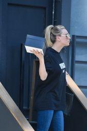 Kaley Cuoco Leaves a Studio in LA, April 2017