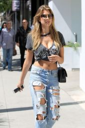 Kara Del Toro in Ripped Jeans - Shopping in Beverly Hills 4/4/2017