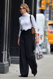Karlie Kloss Cute Outfit - Shopping in NYC 4/23/2017