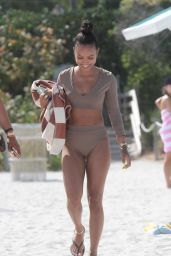 Karrueche Tran in Bikini on a Beach in Miami 4/15/2017