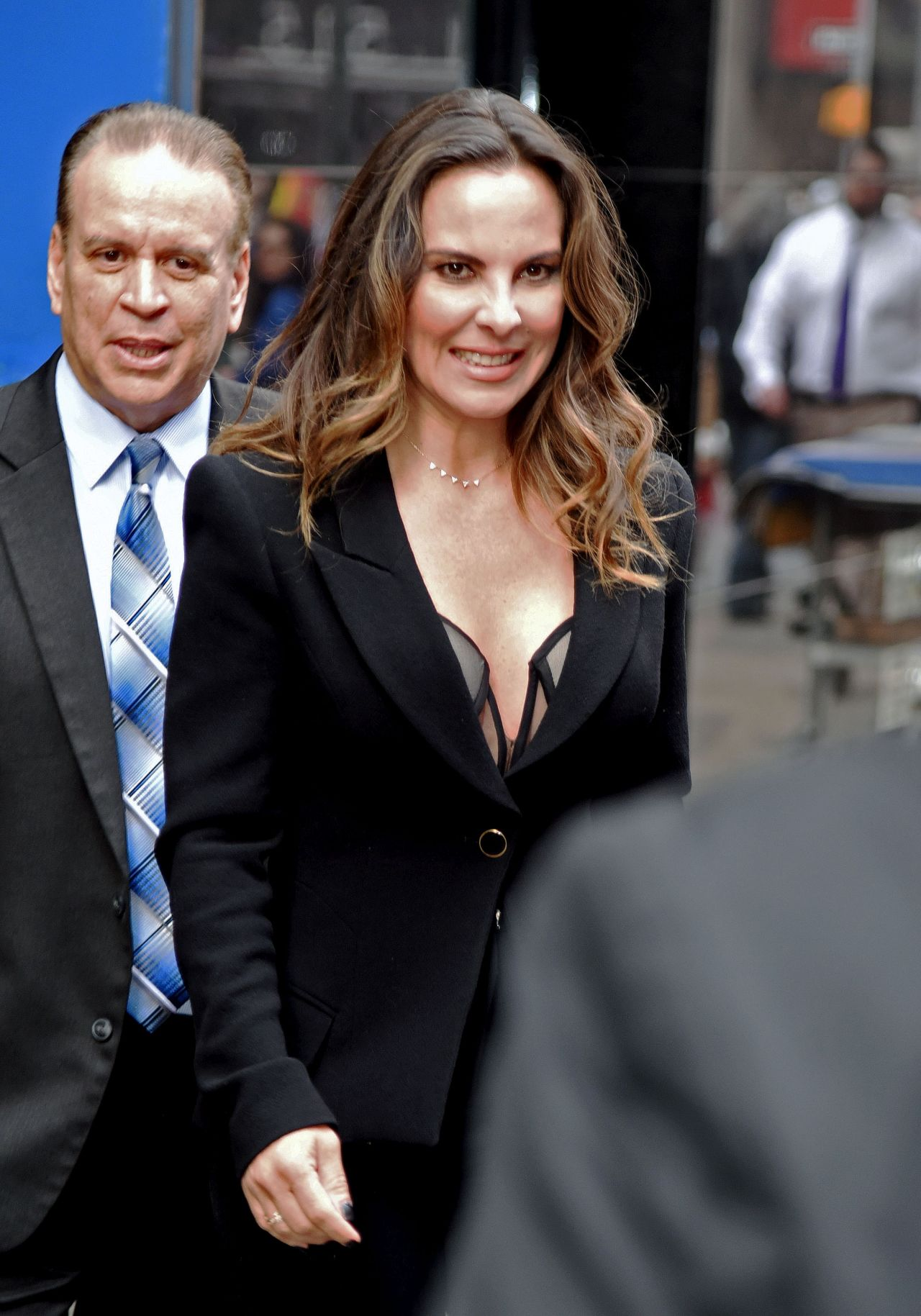 Kate del castillo arriving to appear on good morning america in nyc