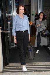 Keeley Hawes Leaving BBC Radio Two Studios in London. 4/21/2017