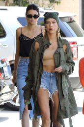 Kendall Jenner & Hailey Baldwin - Lunch at Honor Bar in Beverly Hills 4/18/2017