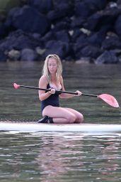 Kendra Wilkinson in Swimsuit - Paddle Boarding in Hawaii, April 2017