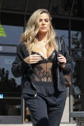 Khloe Kardashian Street Style - Out in Los Angeles, CA, 4/5/2017