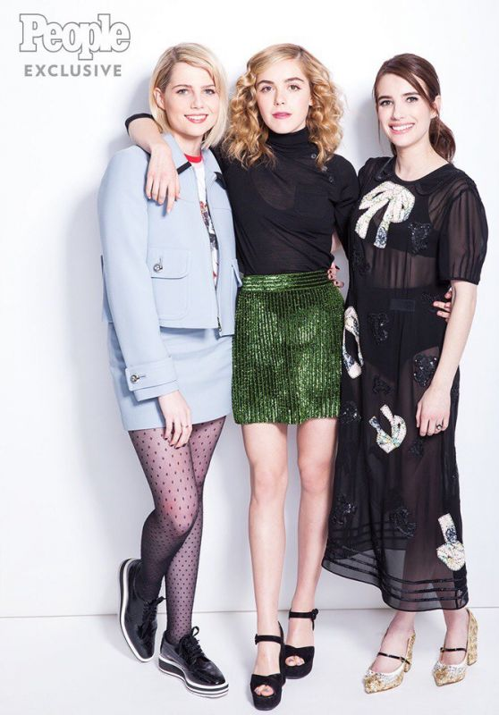 Kiernan Shipka, Emma Roberts and Lucy Boynton - People Magazine 2017