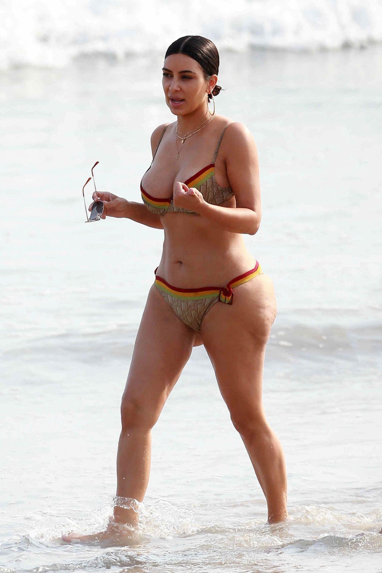 Kim Kardashian in Bikini – Beach in Tulum, Mexico 4/24/2017