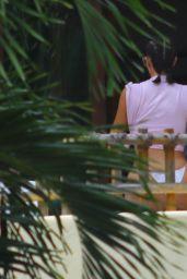 Kim Kardashian in Bikini - Lounging by the Pool at Casa Aramara 04/26/2017