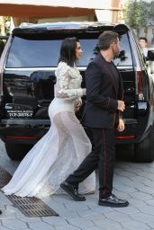Kim Kardashian in Sheer Givenchy Gown - at Dinner With Mert Alas 4/2/2017