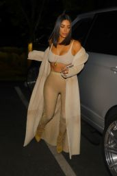 Kim Kardashian Night Out Style - Arriving at La Scala Restaurant in LA 4/19/2017