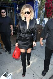 Kim, Khloe, and Kourtney Kardashian Style and Fashion Inspirations - Leave The Little Next Door Restaurant 4/20/2017