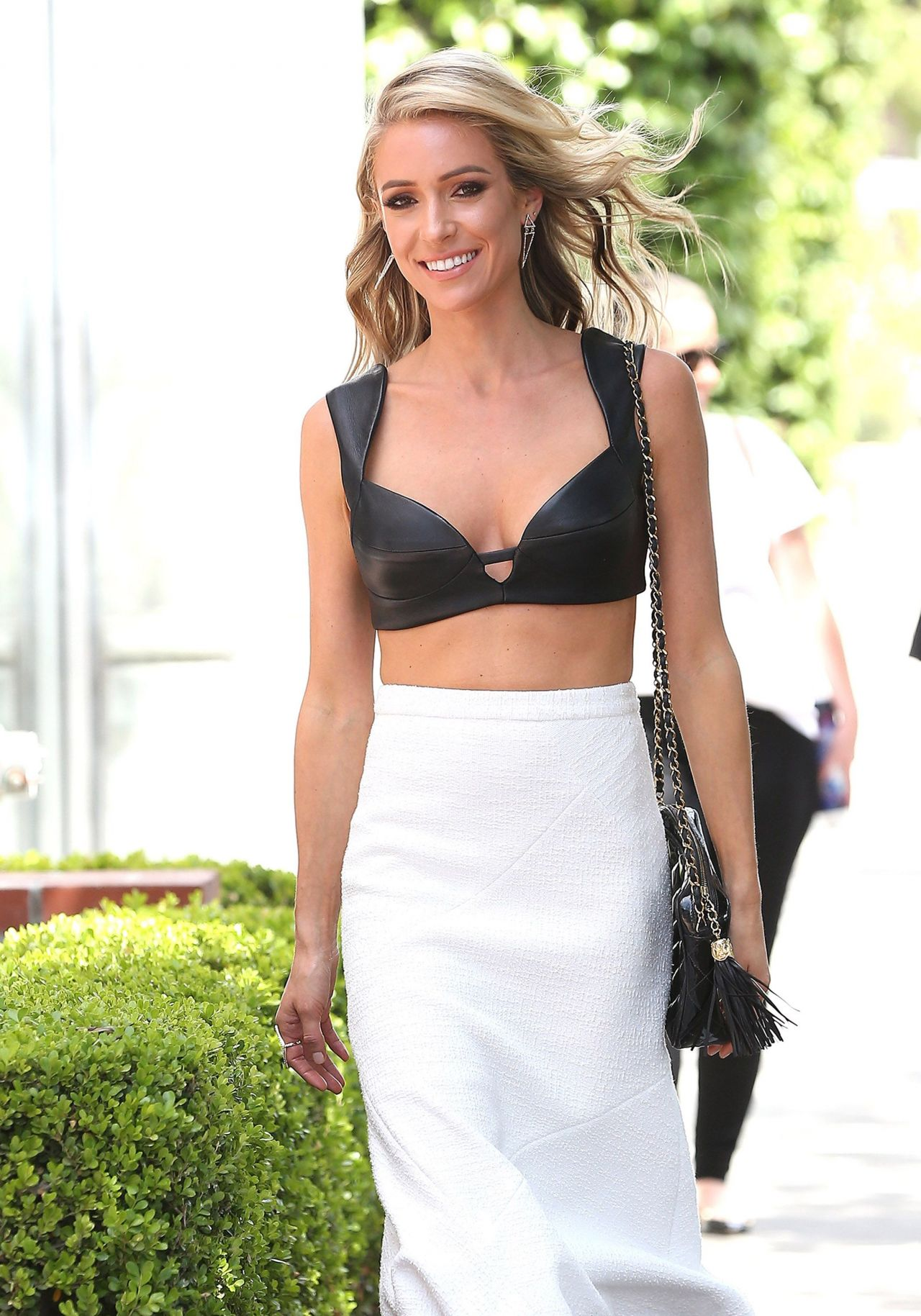 Kristin Cavallari Sexy Out in LA, Leather Bra