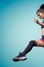 "Kylie Jenner - ""Puma"" Fierce Strap Flocking Campaign 2017"