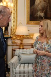 Kylie Minogue at Windsor Castle - Receiving Britain-Australia Society Award for 2016, 4/4/2017