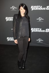 """Laetitia Fourcade on Red Carpet – """"The Fate of the Furious"""" Premiere in Paris 4/5/2017"""
