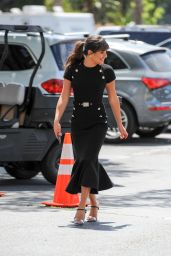Lea Michele - Filming for EXTRA TV Show in Los Angeles 4/13/2017