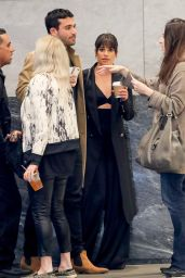 Lea Michele - Goes For a Coffee With Friends in NY 04/26/2017