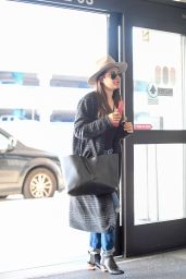 Lea Michele Travel Style - Arrives at LAX Airport in Los Angeles 3/30/2017