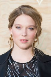 Lea Seydoux at Louis Vuitton Dinner Party, Louvre in Paris 4/11/2017