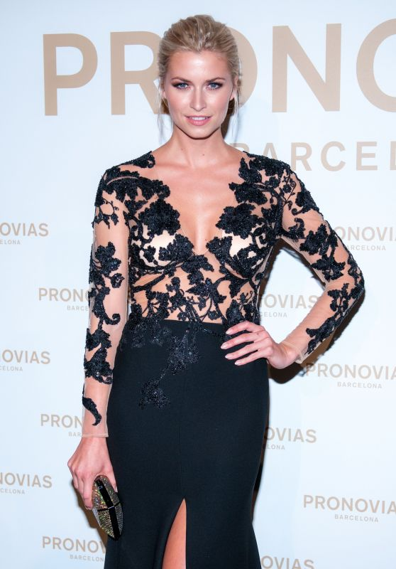 Lena Gercke - Barcelona Photocall at the Pronovias Catwalk Show 04/28/2017