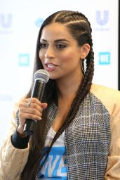 Lilly Singh at WE Day California Press Conference in LA 04/27/2017