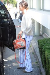 Lily Aldridge - Leaving the Hair Salon in Beverly Hills 4/19/2017