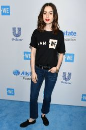 Lily Collins at WE Day California in Los Angeles 04/27/2017