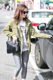 Lily Collins - Leaves the Gym in West Hollywood, CA 4/24/2017