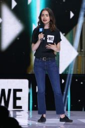 Lily Collins on Stage at WE Day California Show in Los Angeles 04/27/2017