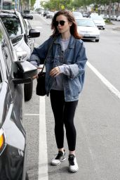 Lily Collins - Out in West Hollywood 4/9/2017