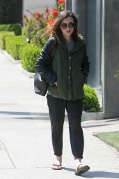 Lily Collins - Running Errands in Los Angeles 4/11/2017