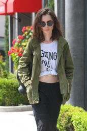 Lily Collins Spring Street Fashion - Out in WeHo, CA 04/24/2017