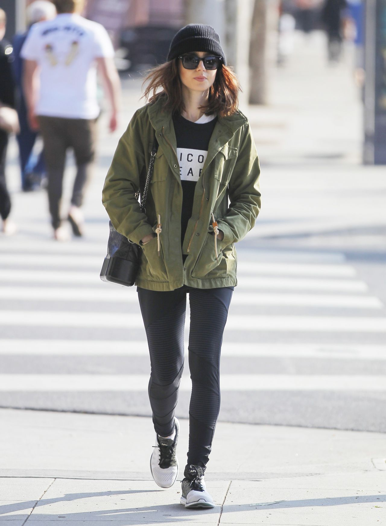 Lily collins street style beverly hills