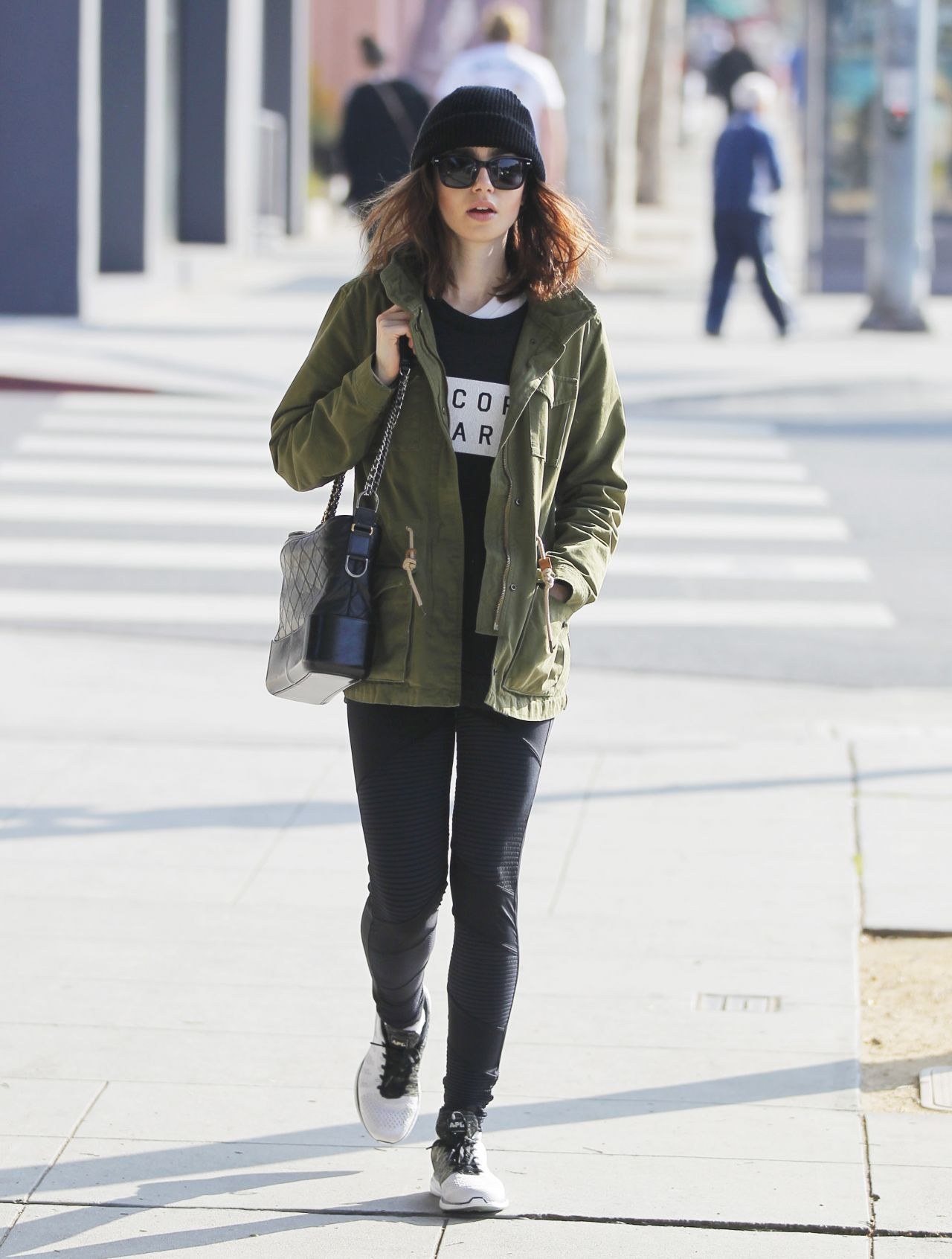 lily collins street style beverly hills ca 442017