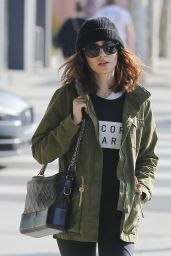 Lily Collins Street Style - Beverly Hills, CA 4/4/2017