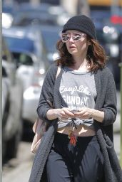 Lily Collins Strolled in LA 4/2/2017